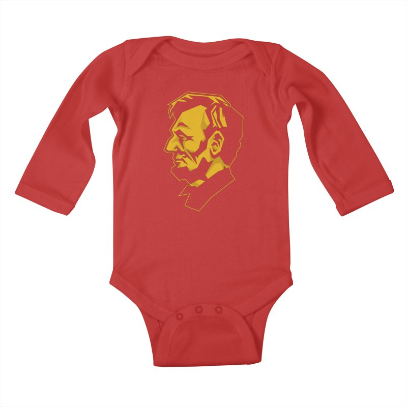 Comrade Lincoln Kids Baby Longsleeve Bodysuit by Octophant's Artist Shop