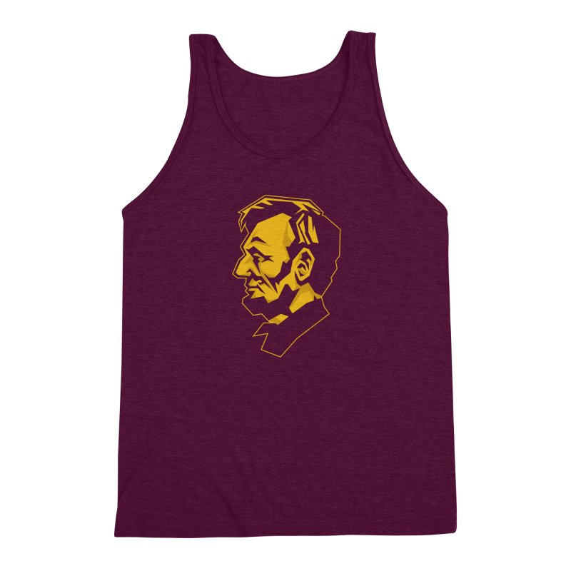 Comrade Lincoln Men's Triblend Tank by Octophant's Artist Shop
