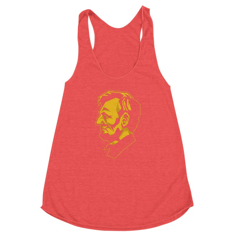 Comrade Lincoln Women's Racerback Triblend Tank by Octophant's Artist Shop