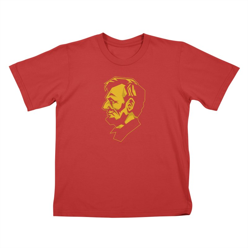 Comrade Lincoln Kids T-Shirt by Octophant's Artist Shop