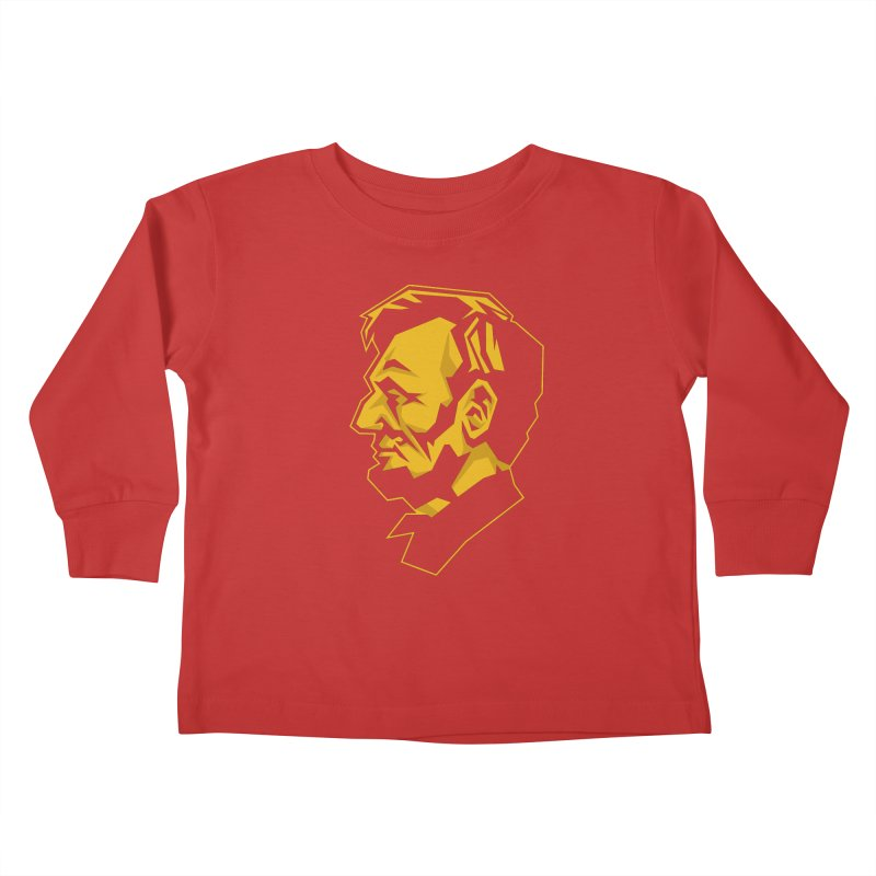 Comrade Lincoln Kids Toddler Longsleeve T-Shirt by Octophant's Artist Shop