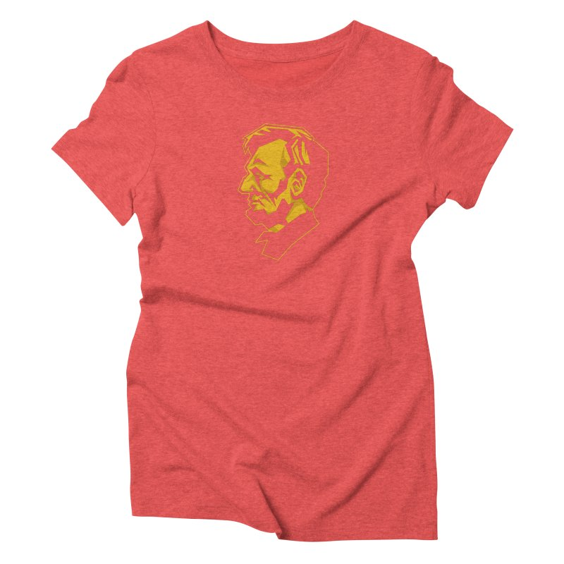 Comrade Lincoln Women's Triblend T-Shirt by Octophant's Artist Shop