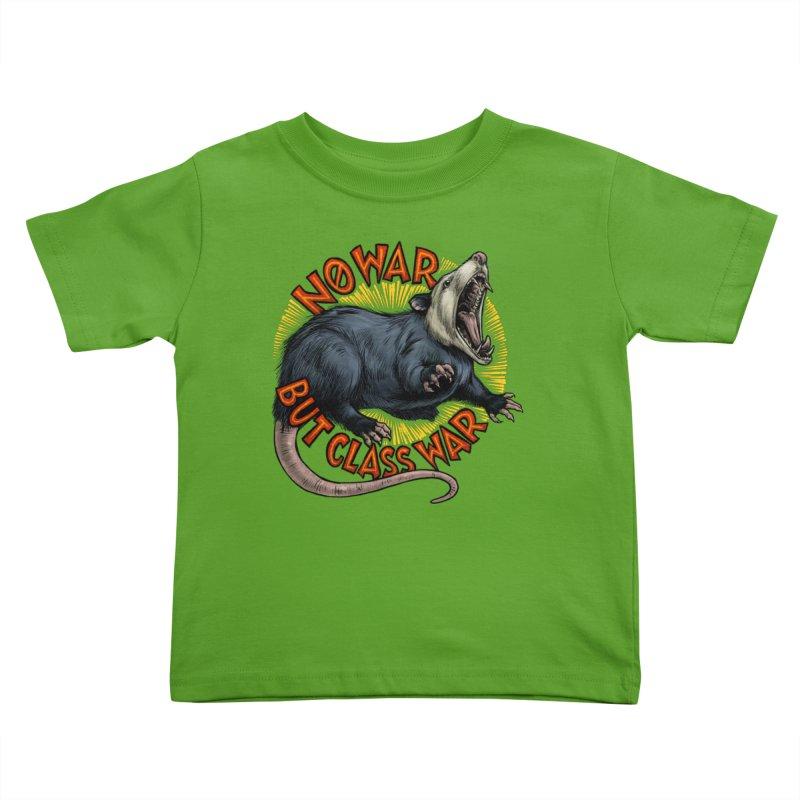 Class War Possum Kids Toddler T-Shirt by Octophant's Artist Shop