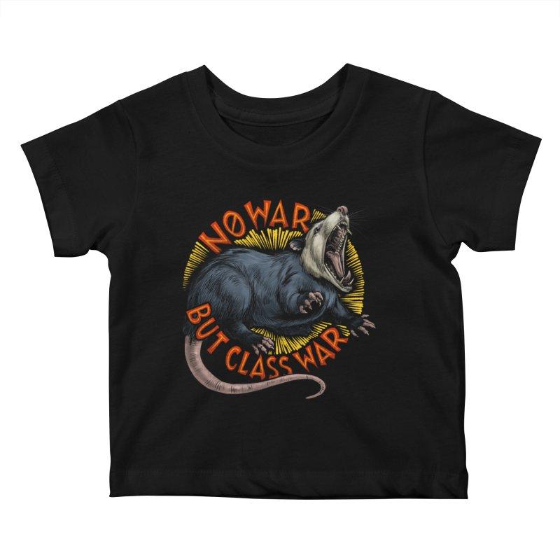 Class War Possum Kids Baby T-Shirt by Octophant's Artist Shop