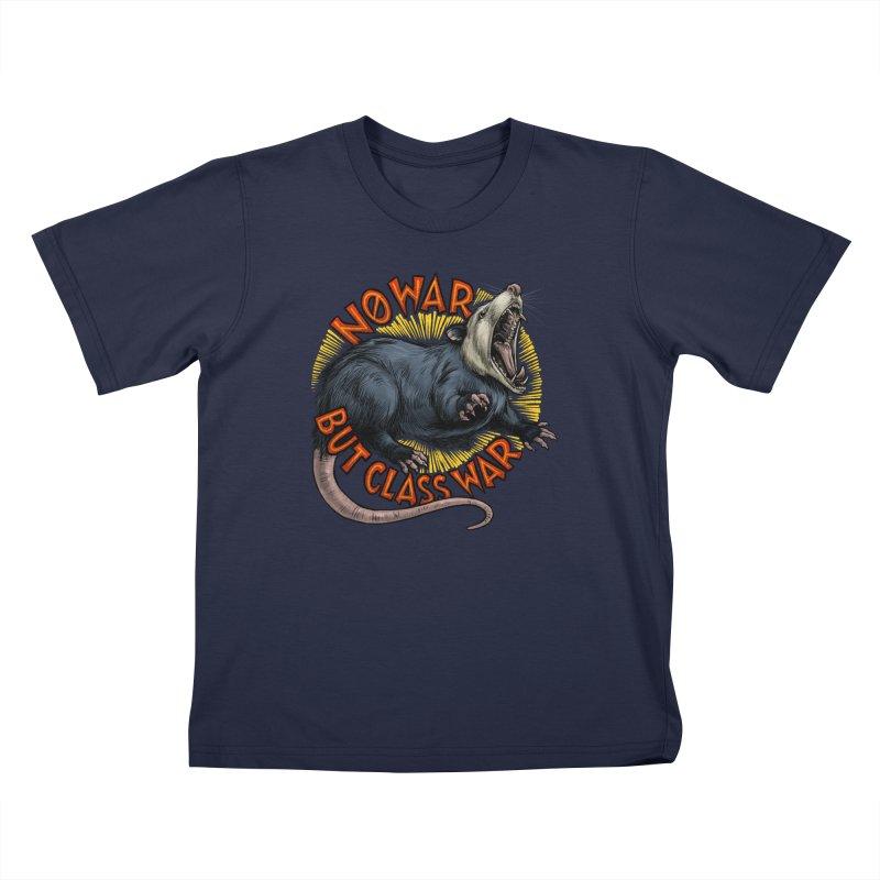 Class War Possum Kids T-Shirt by Octophant's Artist Shop
