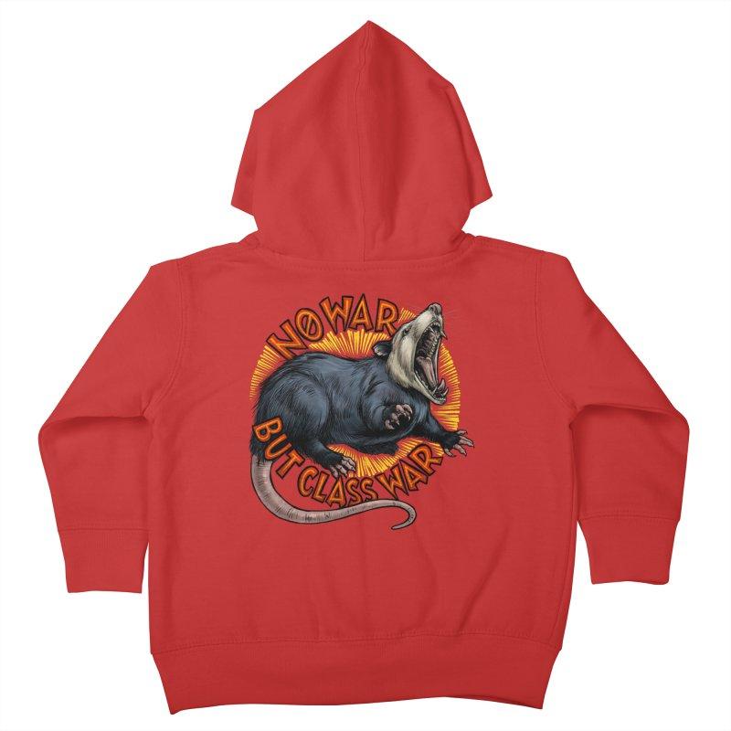 Class War Possum Kids Toddler Zip-Up Hoody by Octophant's Artist Shop