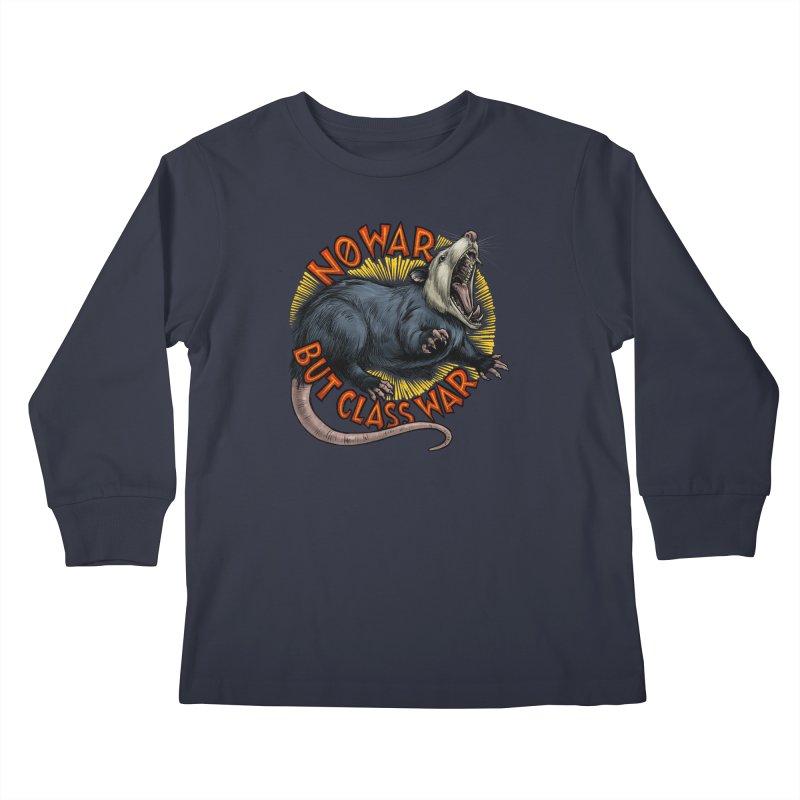 Class War Possum Kids Longsleeve T-Shirt by Octophant's Artist Shop