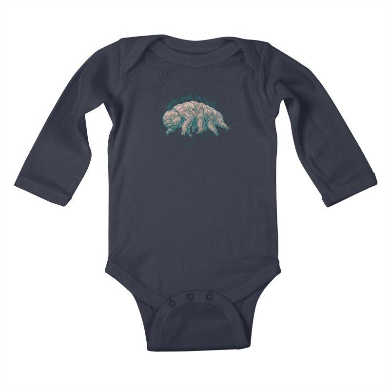 Water Bear Don't Care Kids Baby Longsleeve Bodysuit by Octophant's Artist Shop
