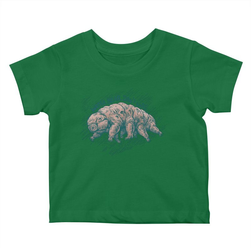 Water Bear Don't Care Kids Baby T-Shirt by Octophant's Artist Shop