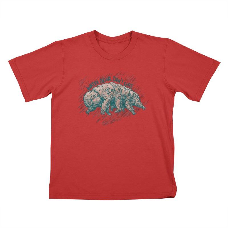 Water Bear Don't Care Kids T-Shirt by Octophant's Artist Shop