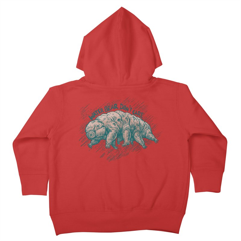 Water Bear Don't Care Kids Toddler Zip-Up Hoody by Octophant's Artist Shop