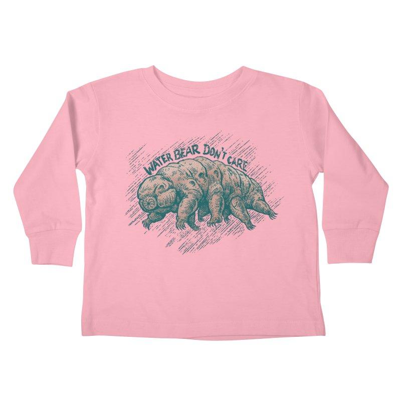 Water Bear Don't Care Kids Toddler Longsleeve T-Shirt by Octophant's Artist Shop
