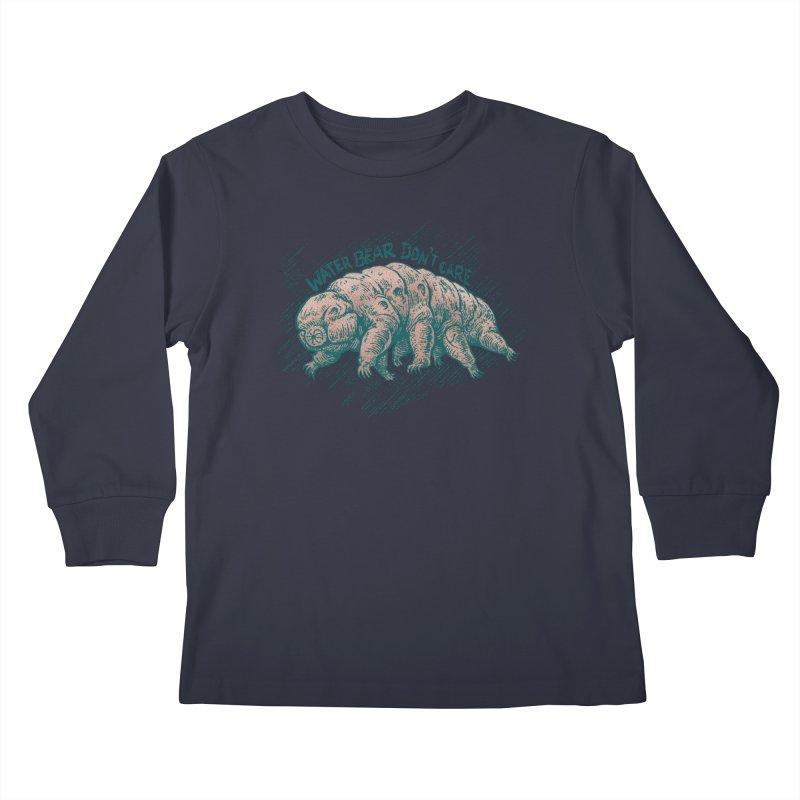 Water Bear Don't Care Kids Longsleeve T-Shirt by Octophant's Artist Shop