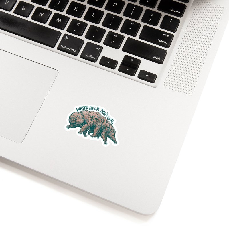Water Bear Don't Care Accessories Sticker by Octophant's Artist Shop