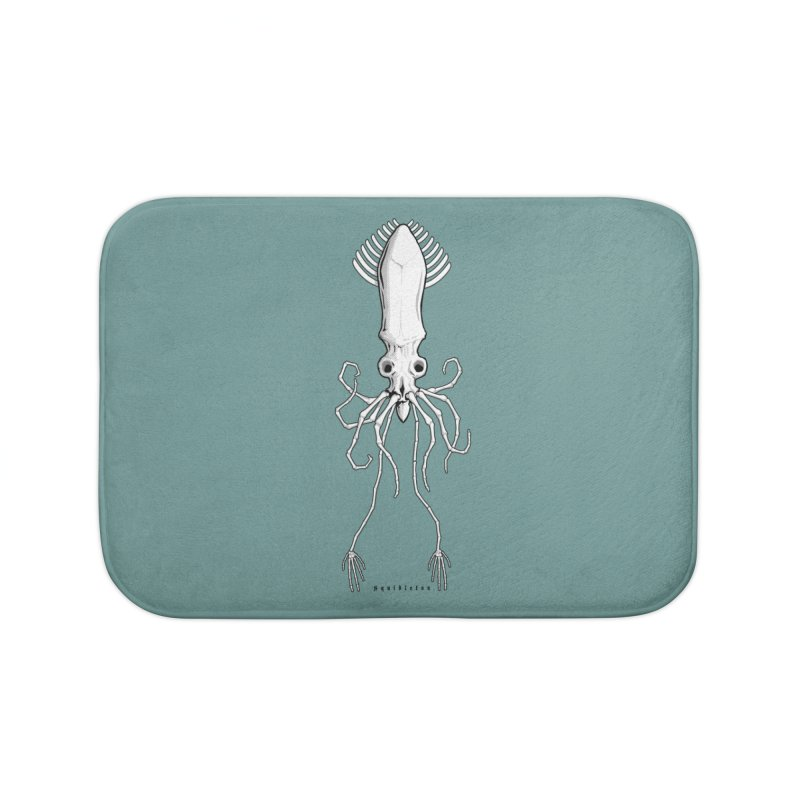 Squidleton Home Bath Mat by Octophant's Artist Shop