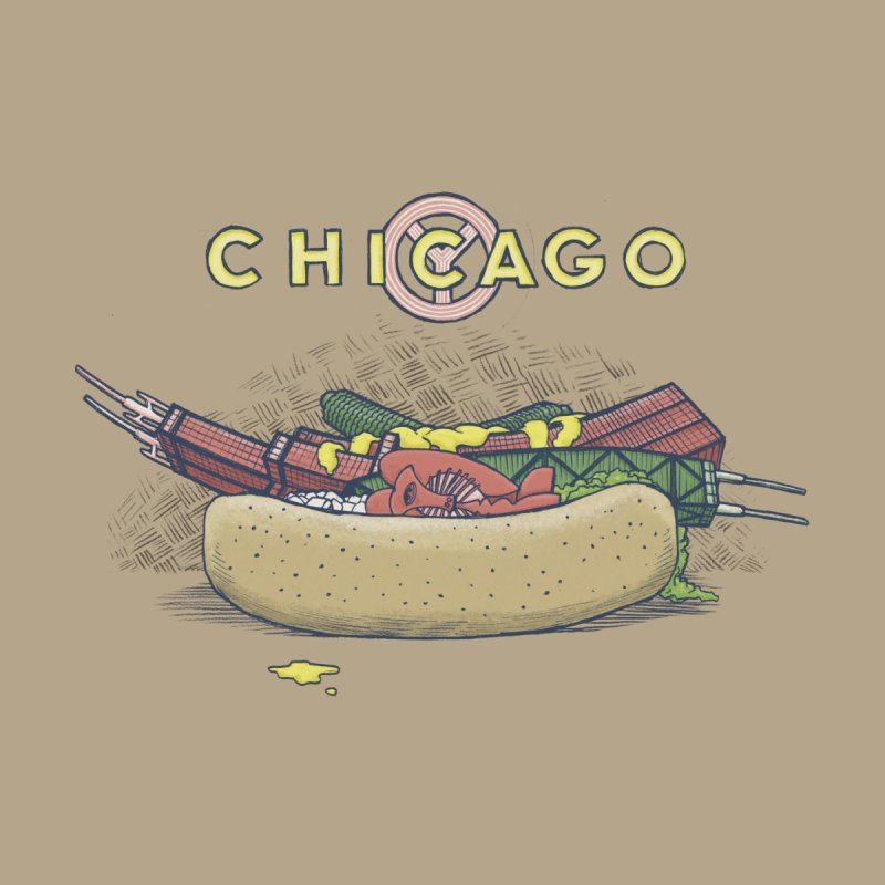 Chicago Dog with Everything Kids Baby Longsleeve Bodysuit by Octophant's Artist Shop