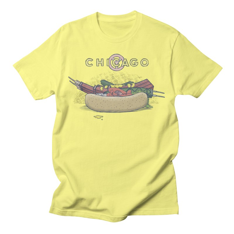 Chicago Dog with Everything Men's T-Shirt by Octophant's Artist Shop