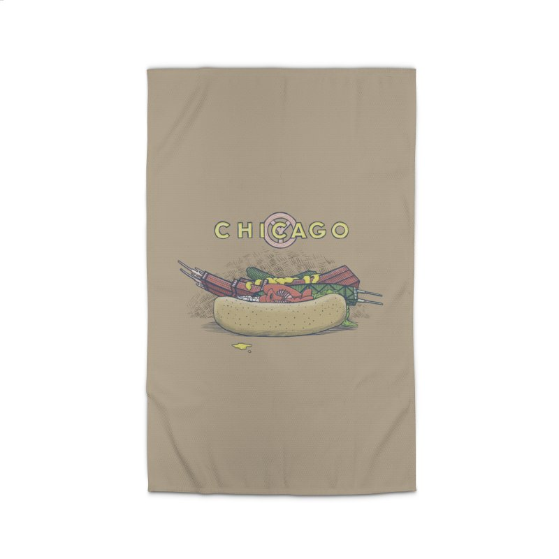 Chicago Dog with Everything Home Rug by Octophant's Artist Shop