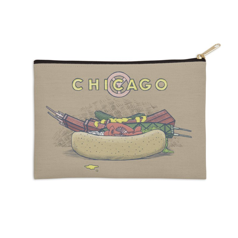 Chicago Dog with Everything Accessories Zip Pouch by Octophant's Artist Shop