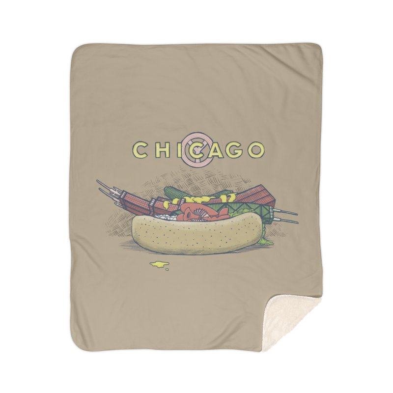 Chicago Dog with Everything Home Sherpa Blanket Blanket by Octophant's Artist Shop