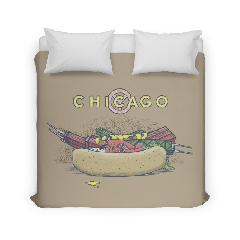 Chicago Dog with Everything Home Duvet by Octophant's Artist Shop