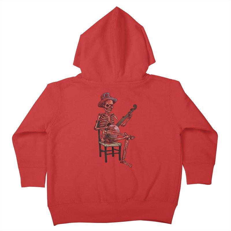 Banjo Bones Kids Toddler Zip-Up Hoody by Octophant's Artist Shop