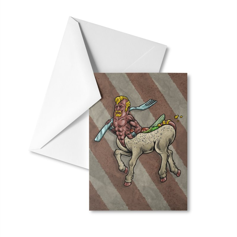 Hotdogataur Accessories Greeting Card by Octophant's Artist Shop