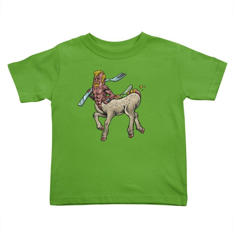 Hotdogataur Kids Toddler T-Shirt by Octophant's Artist Shop