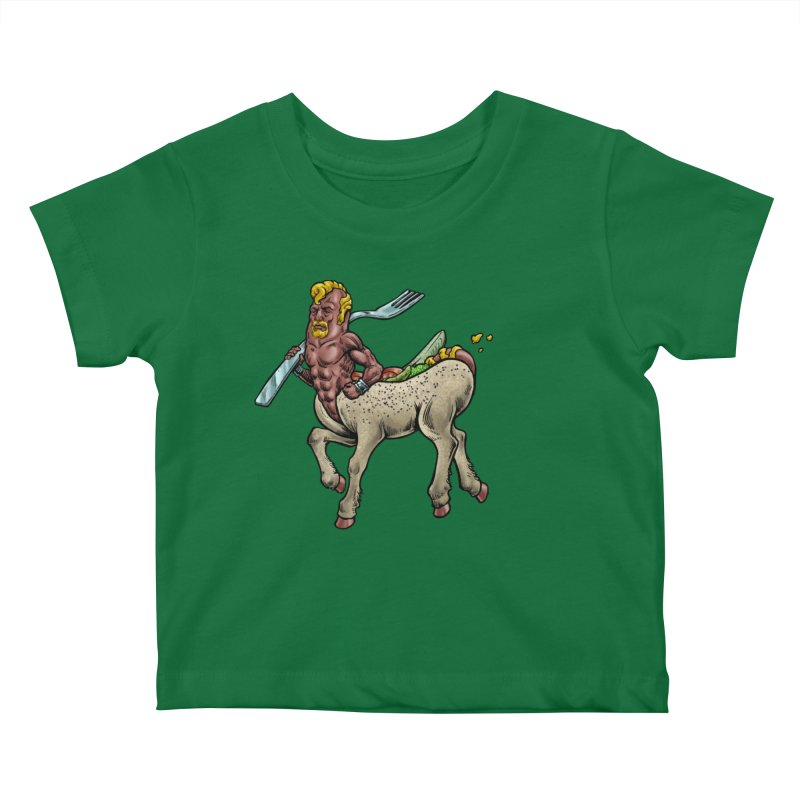 Hotdogataur Kids Baby T-Shirt by Octophant's Artist Shop