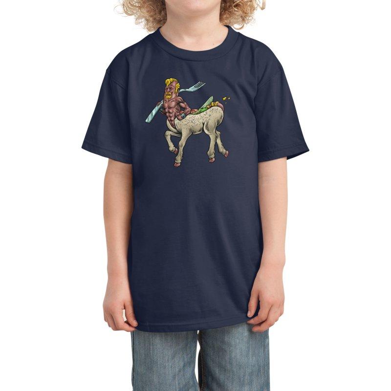 Hotdogataur Kids T-Shirt by Octophant's Artist Shop