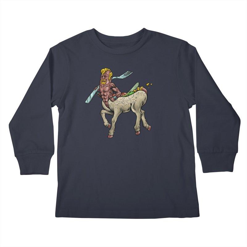 Hotdogataur Kids Longsleeve T-Shirt by Octophant's Artist Shop