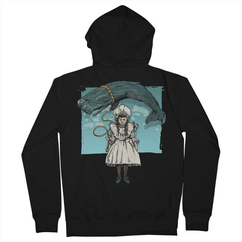 My Pet Whale Men's Zip-Up Hoody by Octophant's Artist Shop