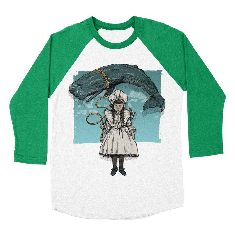My Pet Whale Women's Baseball Triblend T-Shirt by Octophant's Artist Shop