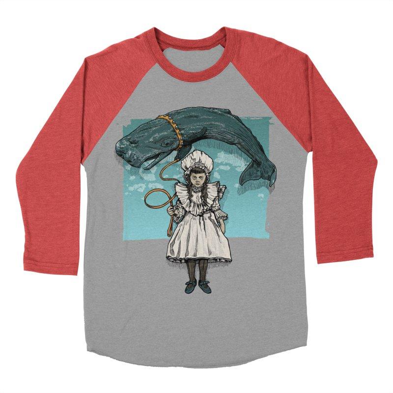 My Pet Whale Men's Baseball Triblend T-Shirt by Octophant's Artist Shop