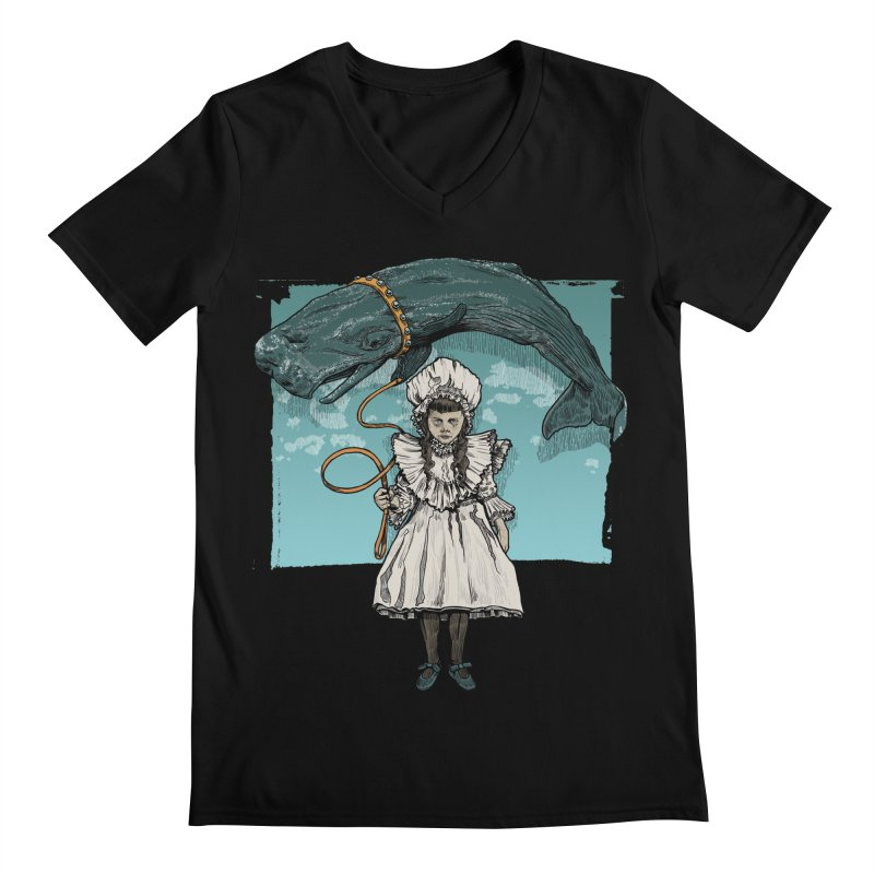 My Pet Whale Men's V-Neck by Octophant's Artist Shop