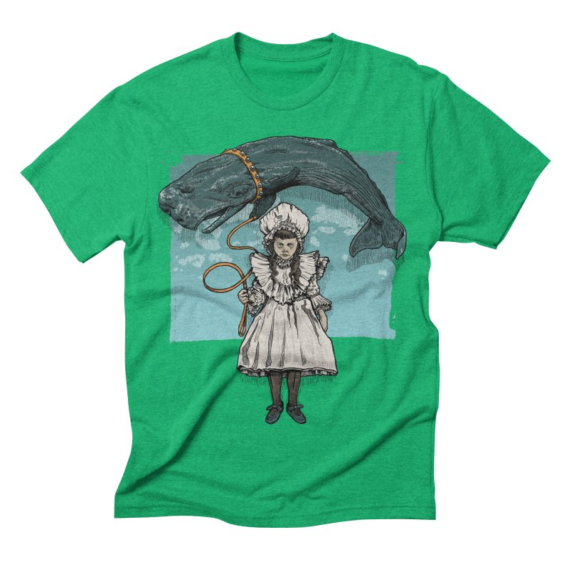 My Pet Whale Men's Triblend T-shirt by Octophant's Artist Shop