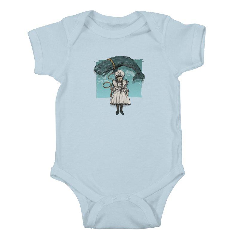 My Pet Whale Kids Baby Bodysuit by Octophant's Artist Shop