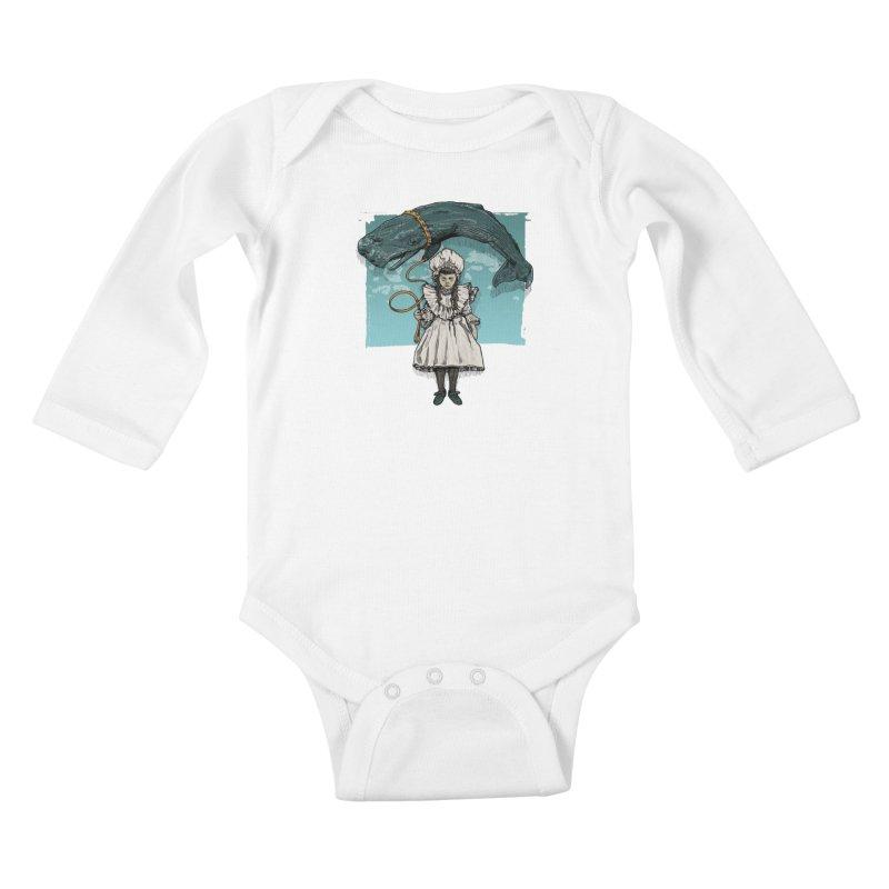 My Pet Whale Kids Baby Longsleeve Bodysuit by Octophant's Artist Shop