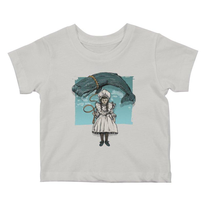My Pet Whale Kids Baby T-Shirt by Octophant's Artist Shop