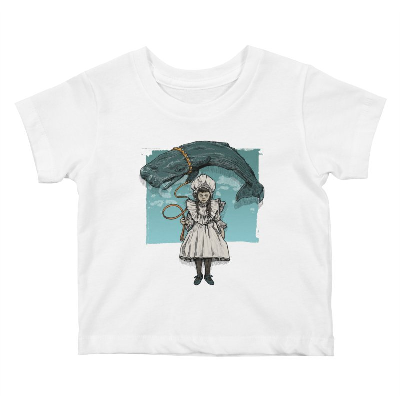 My Pet Whale Kids Baby T-Shirt by Octophant's Artist Shop