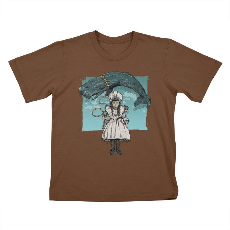 My Pet Whale Kids T-Shirt by Octophant's Artist Shop