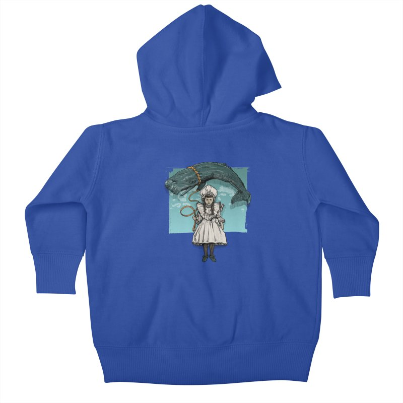 My Pet Whale Kids Baby Zip-Up Hoody by Octophant's Artist Shop