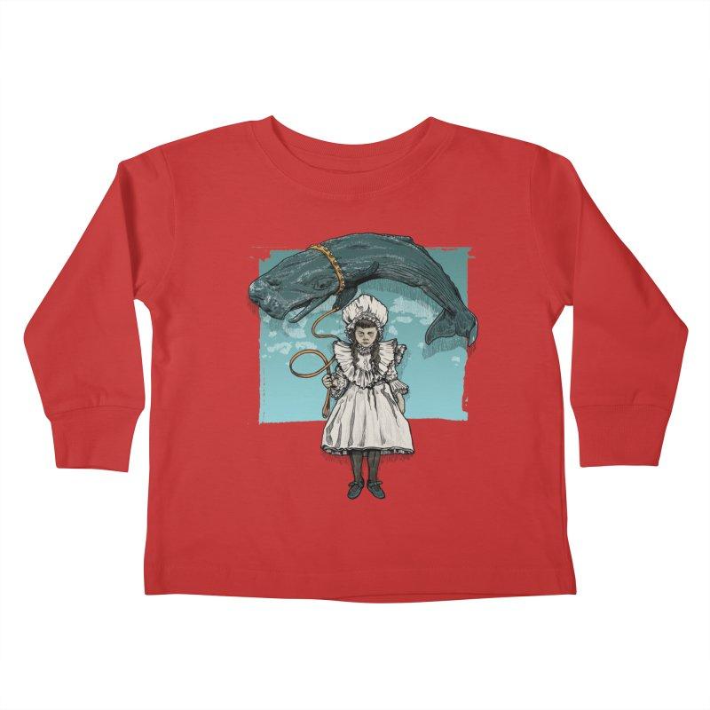My Pet Whale Kids Toddler Longsleeve T-Shirt by Octophant's Artist Shop