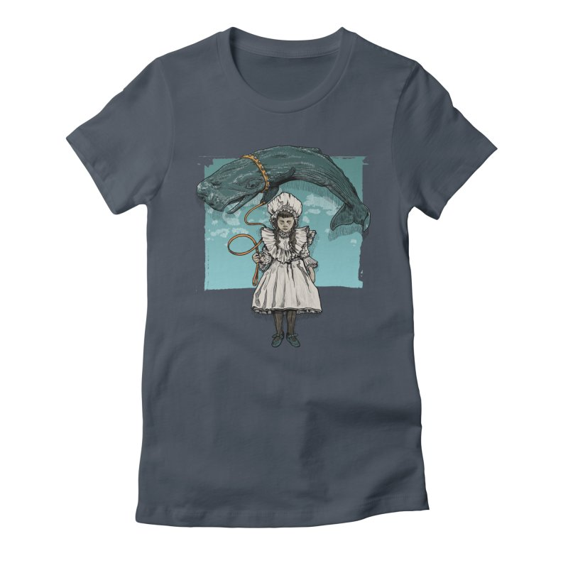 My Pet Whale Women's Fitted T-Shirt by Octophant's Artist Shop