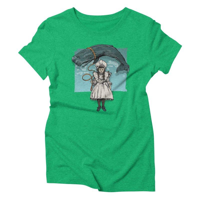 My Pet Whale Women's Triblend T-shirt by Octophant's Artist Shop