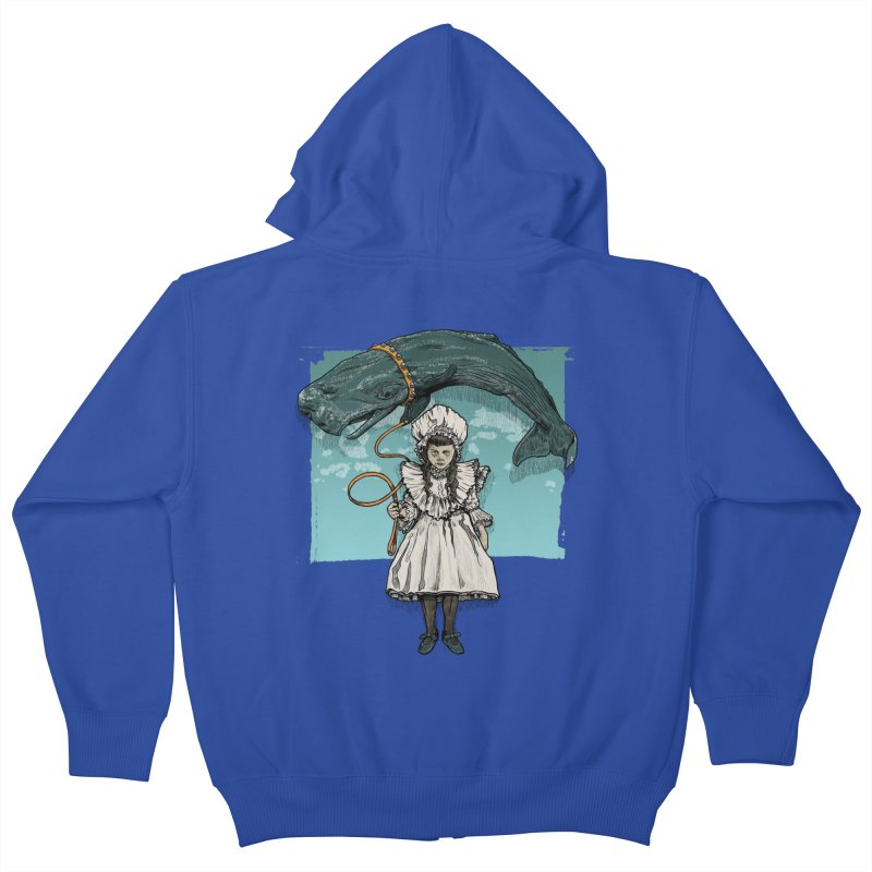 My Pet Whale Kids Zip-Up Hoody by Octophant's Artist Shop