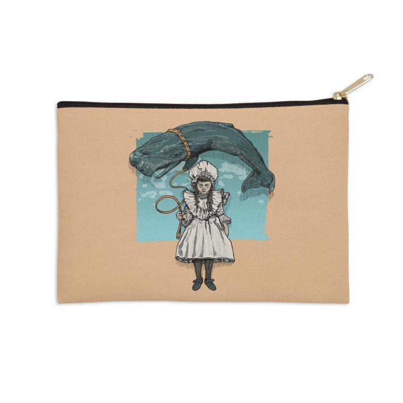 My Pet Whale Accessories Zip Pouch by Octophant's Artist Shop