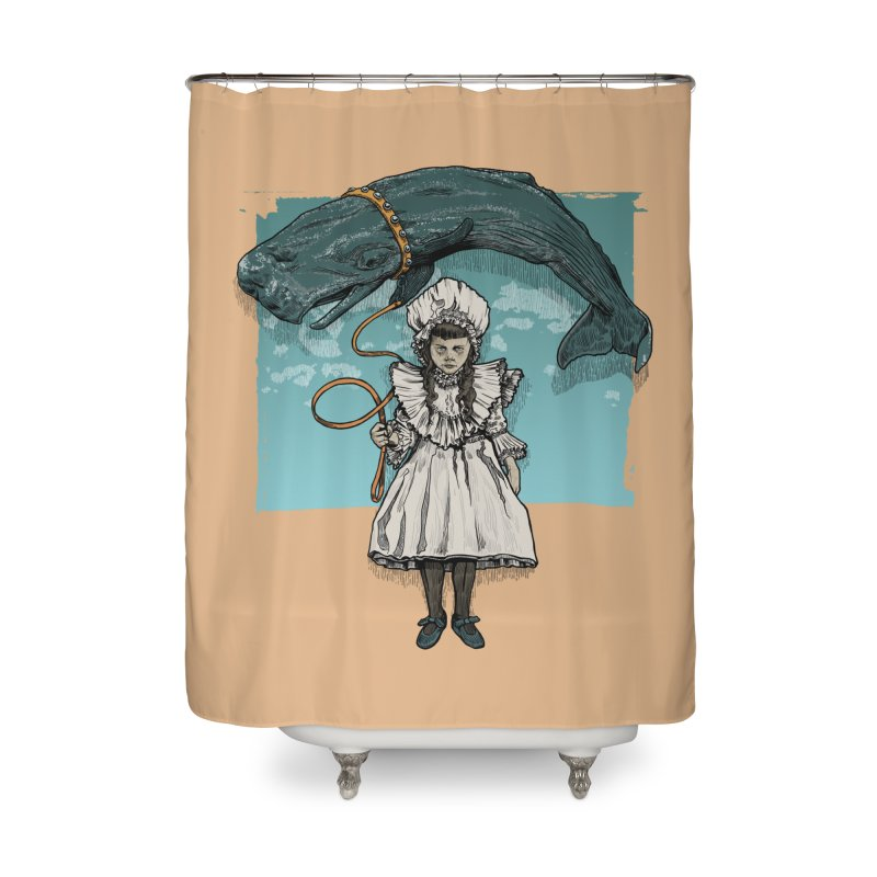 My Pet Whale Home Shower Curtain by Octophant's Artist Shop
