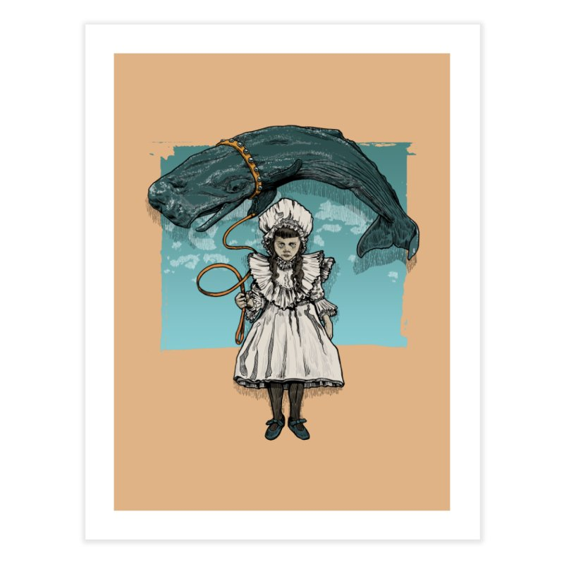 My Pet Whale Home Fine Art Print by Octophant's Artist Shop