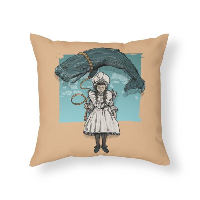My Pet Whale Home Throw Pillow by Octophant's Artist Shop